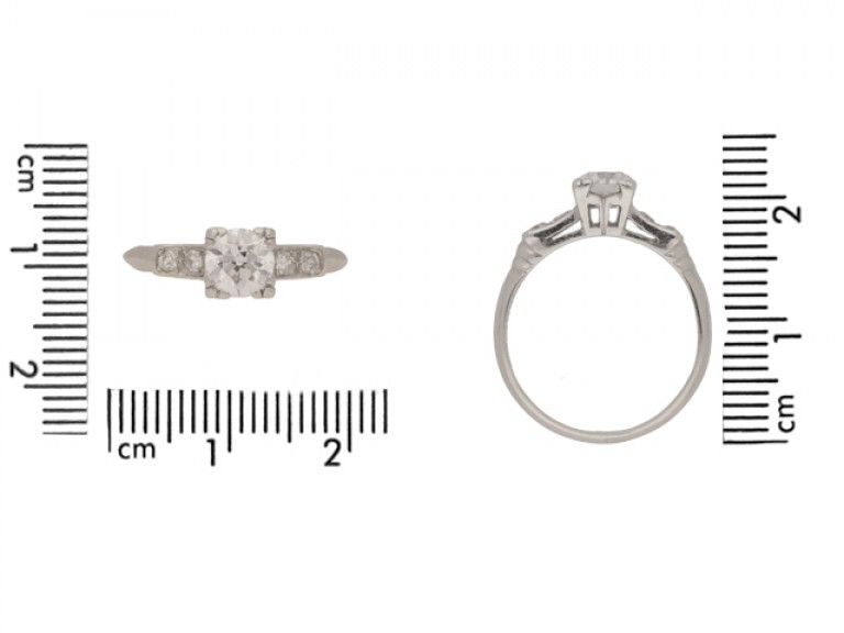 siz eview Diamond ring, American, circa 1935.