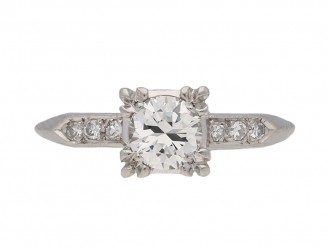 front view antique diamond engagement ring hatton garden berganza