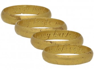 front antique gold posy ring berga