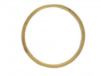 back antique gold posy ring berganza hatton garden