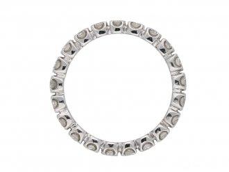 back view vintage diamond eternity ring berganza hatton garden