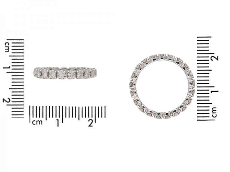 size view vintage diamond eternity ring berganza hatton garden