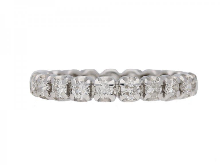 front view vintage diamond eternity ring berganza hatton garden