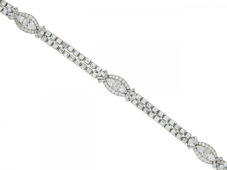 front view Oscar Heyman Brothers diamond bracelet, circa 1958.