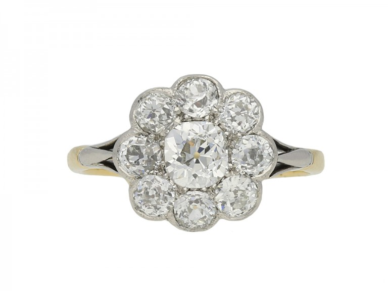 antique diamond cluster ring hatton garden berganza