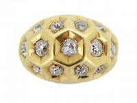 Cartier diamond set honeycomb ring berganza hatton garden
