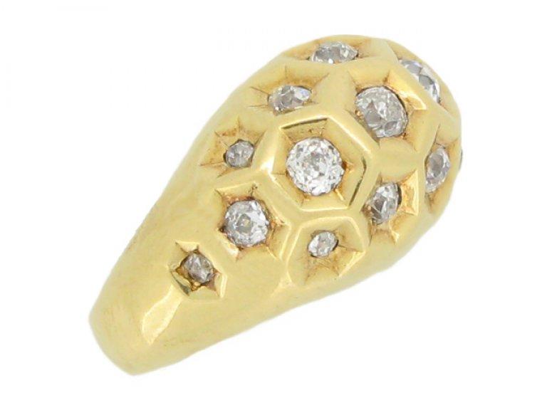 Cartier diamond set honeycomb ring berganza hatton garden