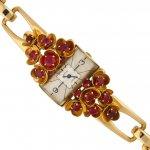 Cartier ruby set watch, French, circa 1941.