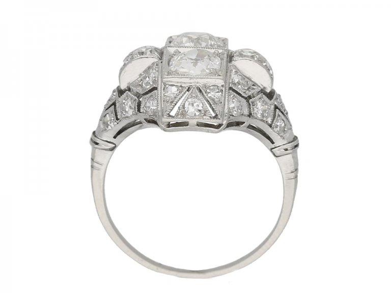 back view Art Deco diamond ring French berganza hatton garden