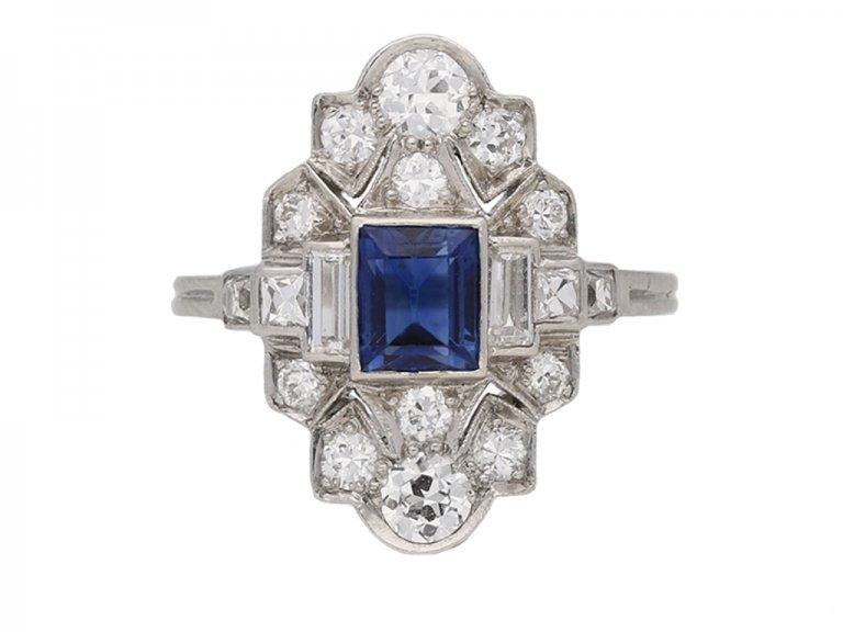 front tiffany sapphire diamond ring berganza hatton garden