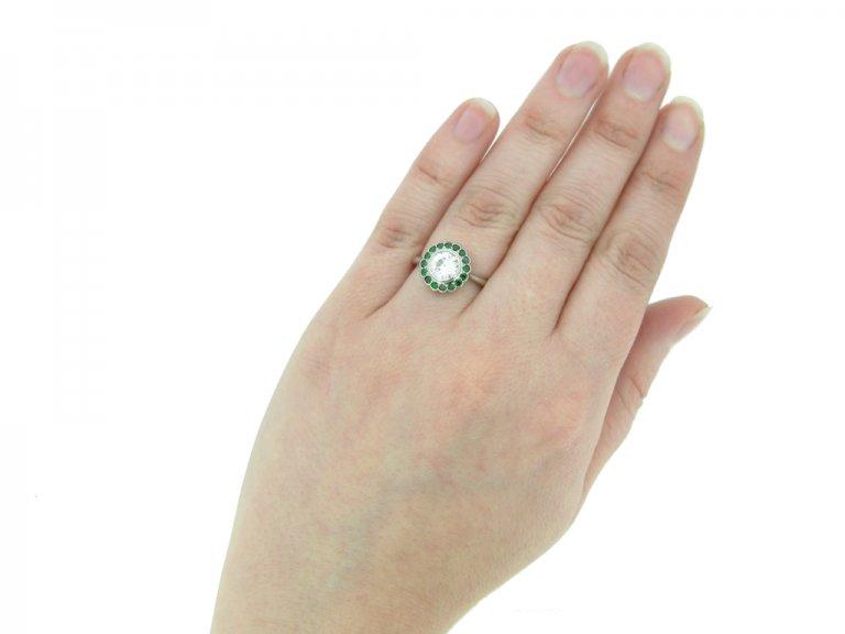 Diamond demantoid garnet ring berganza hatton garden