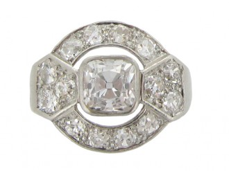 front view Art Deco diamond cluster ring