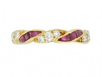 front view Oscar Heyman Brothers ruby and diamond ring, American, circa 1950.