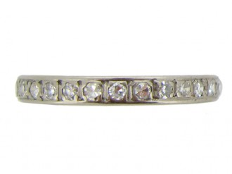 front view Vintage diamond eternity ring, circa 1950.