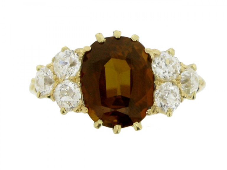front view Antique tourmaline and