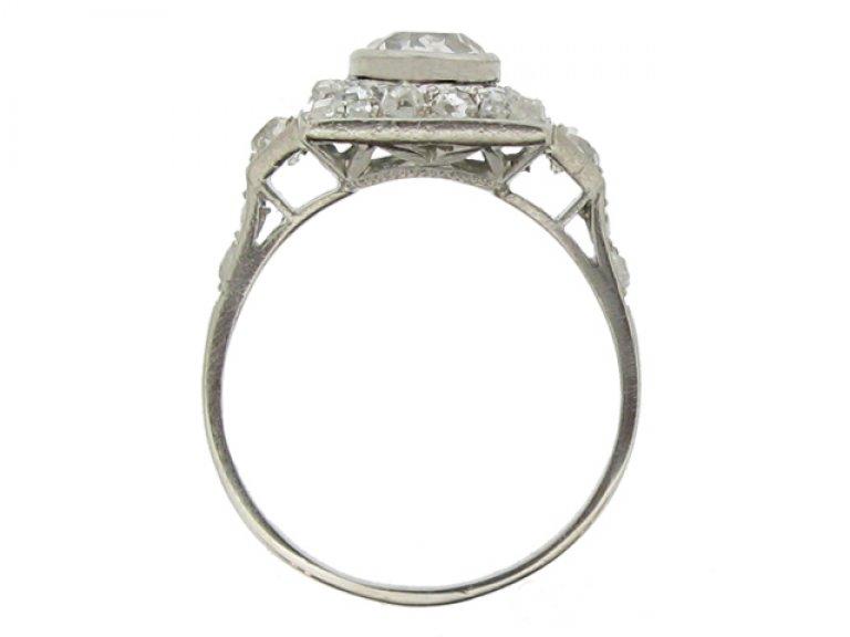 back view Art Deco diamond ring, French, circa 1925.