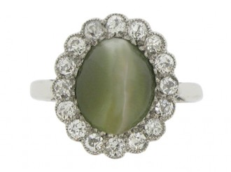 front view Cat's eye chrysoberyl a