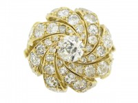 front view Sterle of Paris diamond cocktail ring, French, circa 1970.