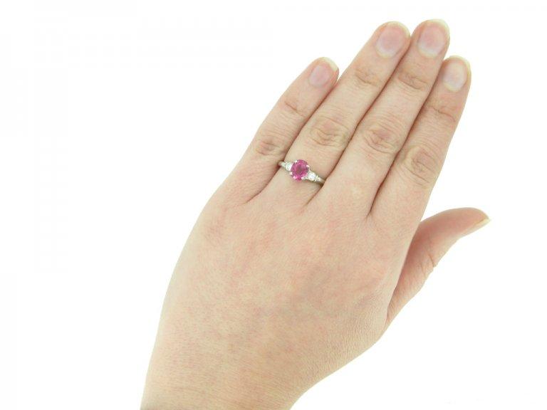 Lambert Bros. ruby and diamond ring berganza hatton garden