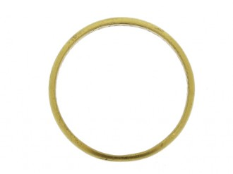 front view Gold posy ring, 'Variety