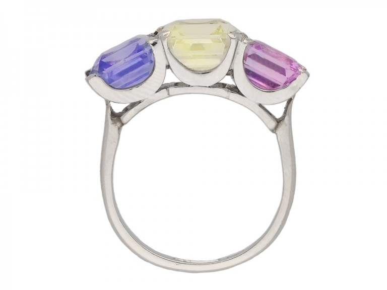 Harry Winston multi coloured natural sapphire ring Berganza Hatton Garden