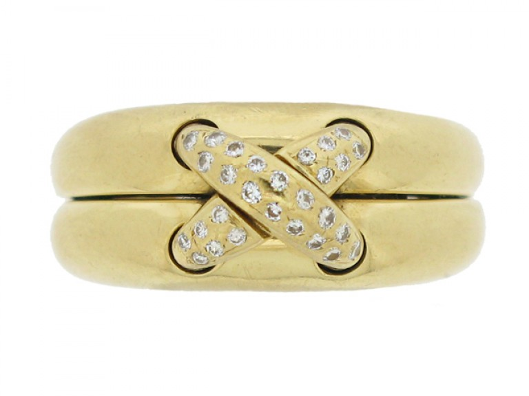 front view Chaumet diamond ring