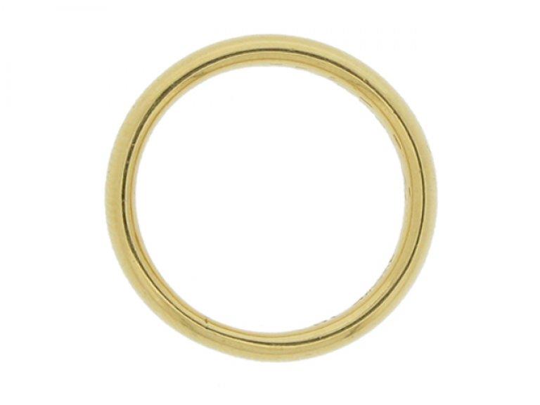 Tiffany & Co. wedding ring in 18 carat gold, American, circa 1940.
