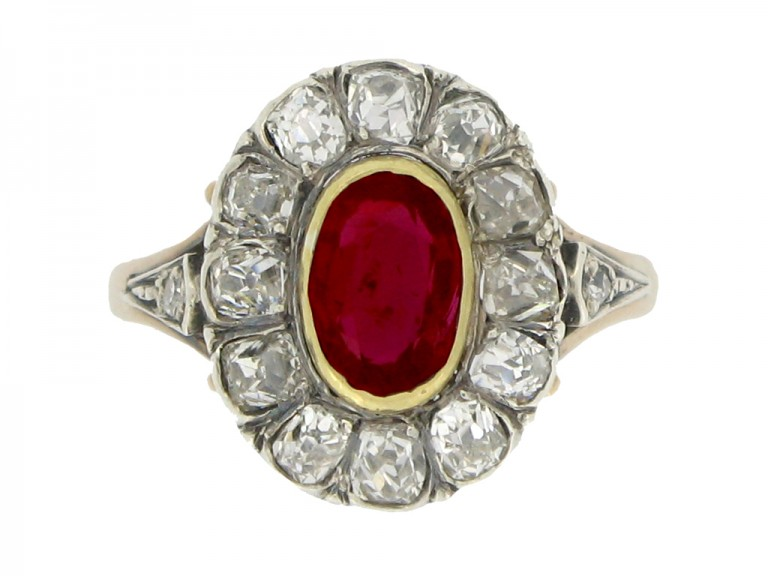 Victorian ruby diamond ring hatton garden berganza