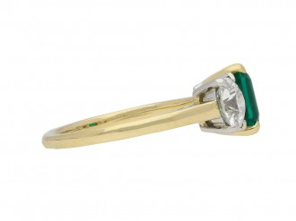 Three stone emerald and diamond ring berganza hatton garden