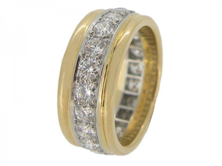 side view Oscar Heyman Brothers vintage diamond band ring