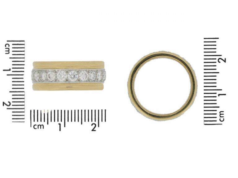 size view Oscar Heyman Brothers vintage diamond band ring