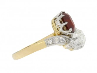 front antique ruby diamond ring berganza hatton garden