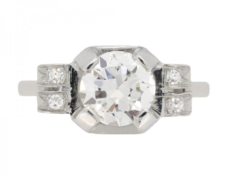 front art deco diamond ring berganza hatton garden