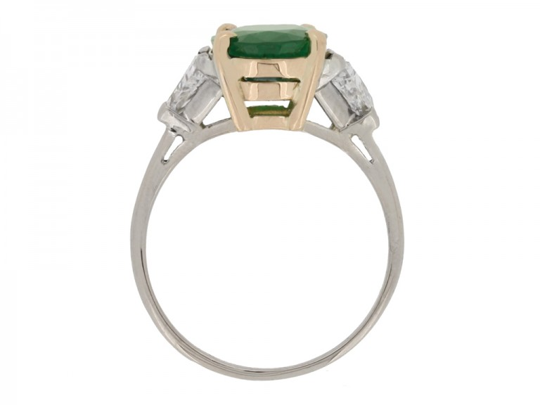 Antique Colombian emerald ring berganza hatton garden