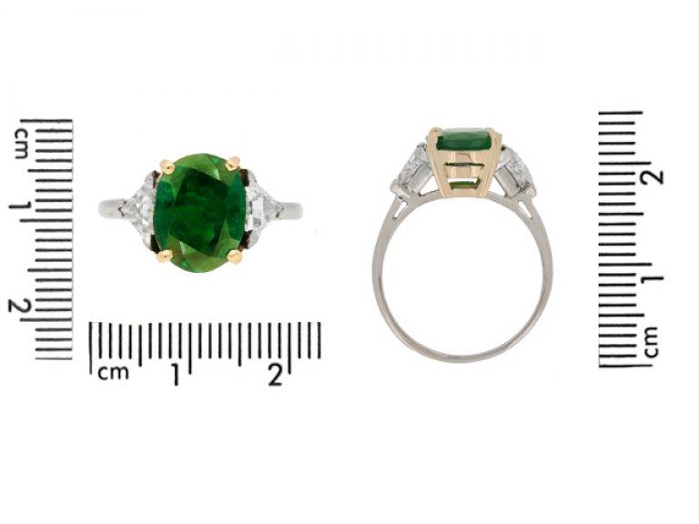 Antique Colombian emerald ring berganza hatton garden