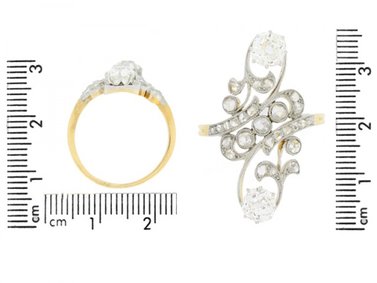 size view Belle Époque diamond cluster ring, circa 1900.