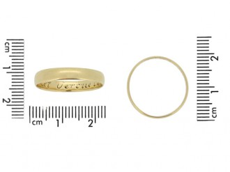 Gold posy ring, 'Let Vertue be a Guide to thee', English, circa 18th century.