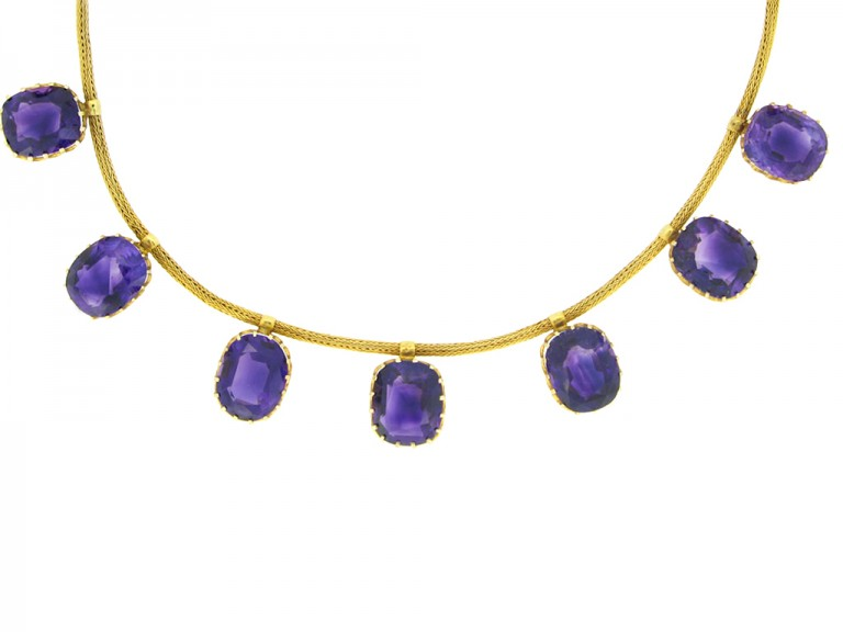 Antique amethyst necklace berganza hatton garden