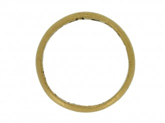 front view Gold posy ring, 'My love to thee endless be'