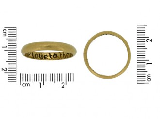 size view Gold posy ring, 'My love to thee endless be'