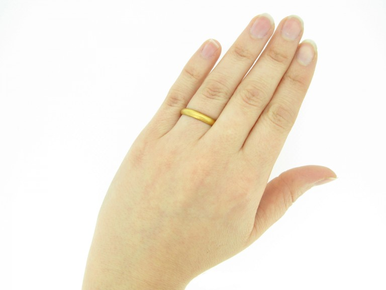 hand view Gold posy ring, 'My love to thee endless be'