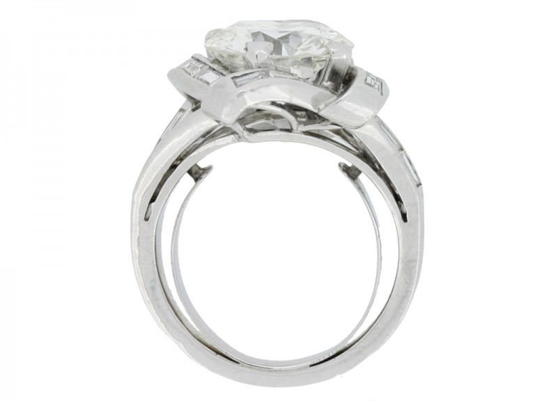 back view Mauboussin diamond cluster ring, French,