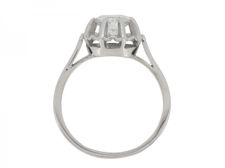 back view Solitaire diamond ring, French, circa 1935.