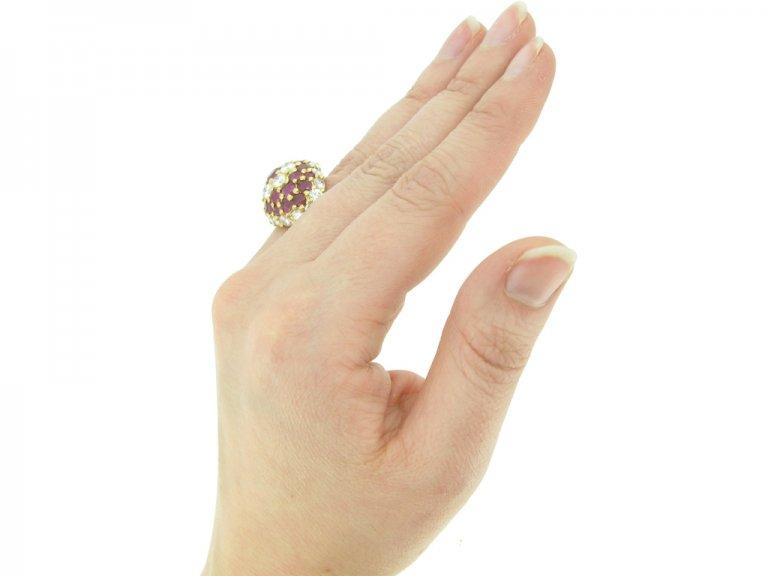 antique ruby diamond by fred ring berganza hatton garden