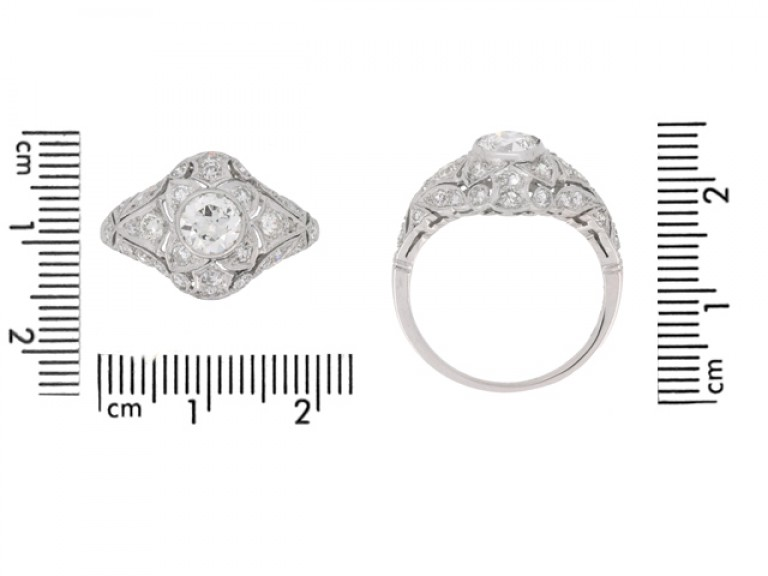 size view Diamond cluster ring, circa 1925.