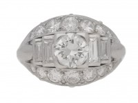 front view Art Deco diamond ring, circa 1935.