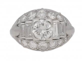 front view Art Deco diamond ring, circa 1935.