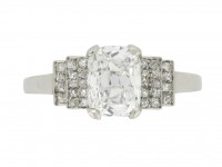 front view Mellerio art deco old mine diamond ring, French