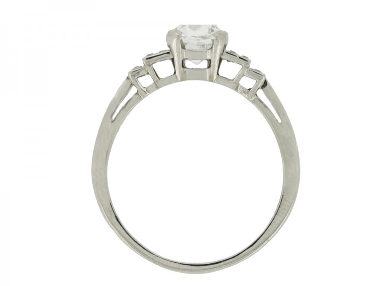 back view Mellerio art deco old mine diamond ring, French