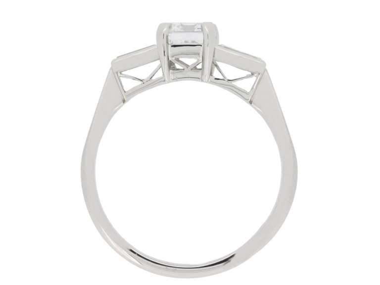 back view antique engagement diamond ring hatton garden berganza